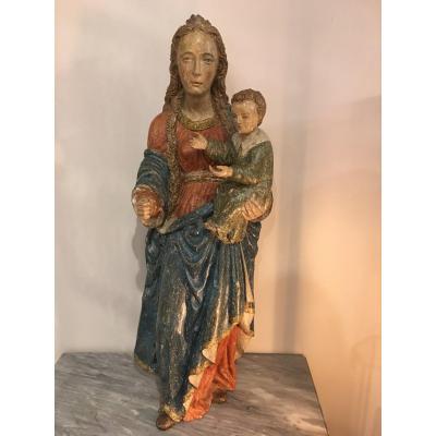 Vierge à l'enfant Epoque 16ème