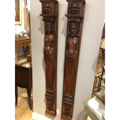 Pair Of Renaissance Style Woodwork Elements
