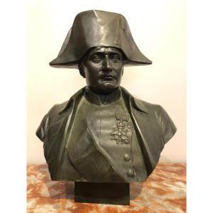 Buste De Napoléon En Bronze Fonte Barbedienne