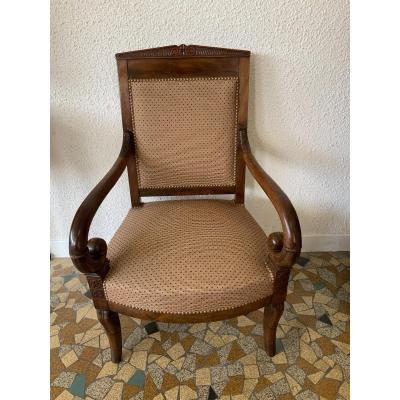 Restoration Armchair In Walnut