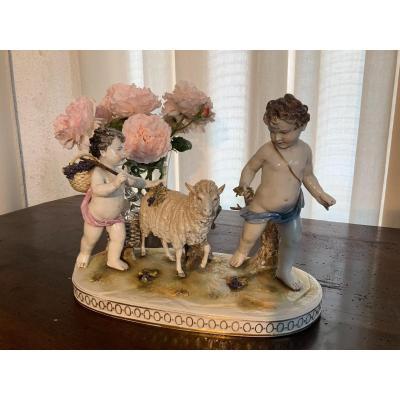 Groupe en porcelaine