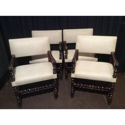 Suite Of Four Armchairs