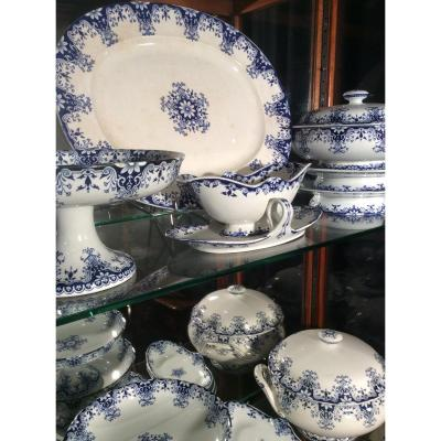 Service In Faience Of Bordeaux Nineteenth Century
