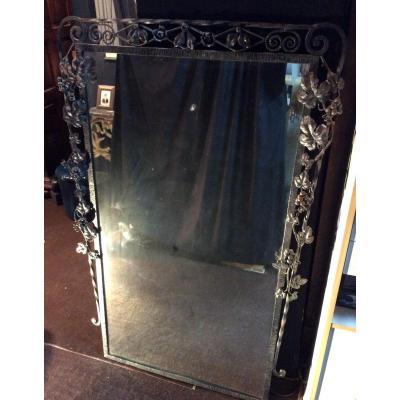 Miroir Art Deco En Fer Forge