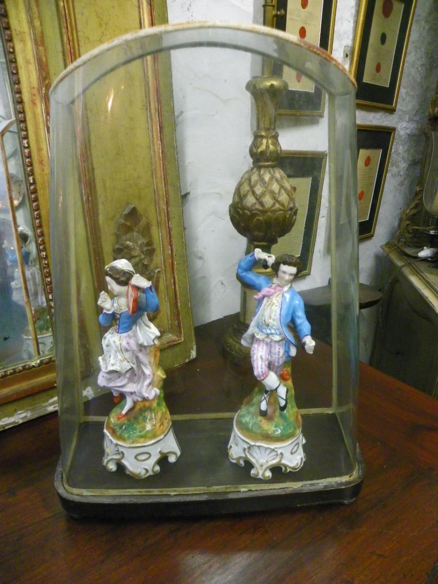 Paire De Danseurs Porcelaine Italienne