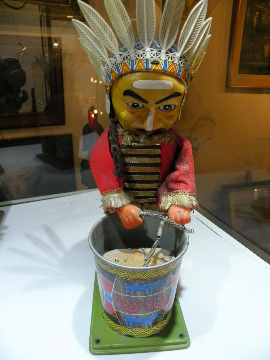 Indian Automaton Playing Drums