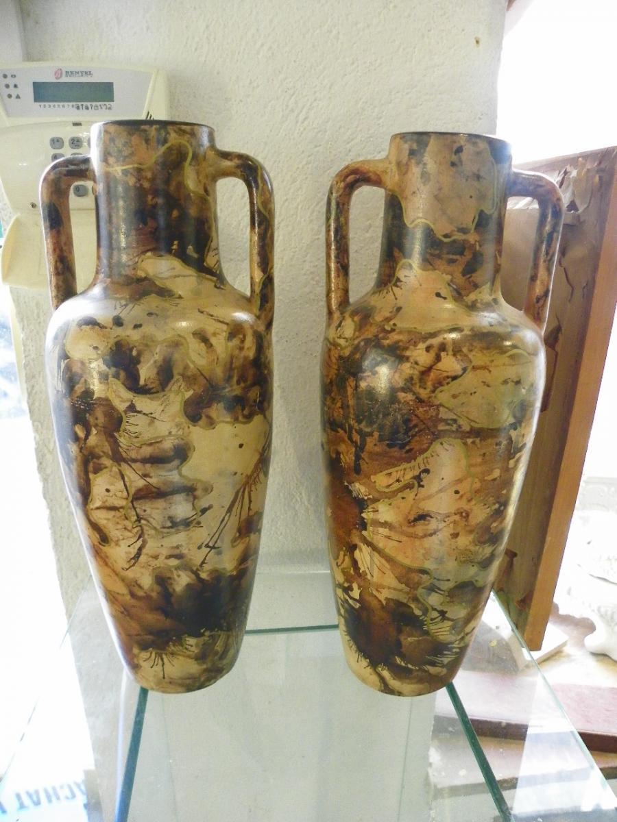 Paire De Vases Vallauris