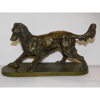 Sculpture Chien En Bronze