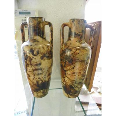 Pair Of Vases Vallauris