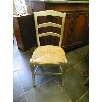 Set Of 6 Painted Chairs