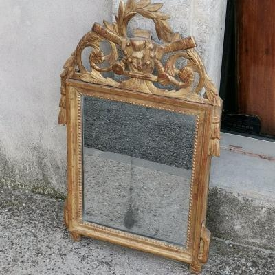 Golden Wood Mirror