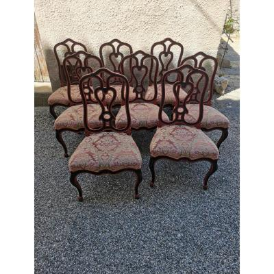 Series Of 8 Style Chairs Lxv