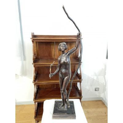 Nude Feminine Wood Sculpture