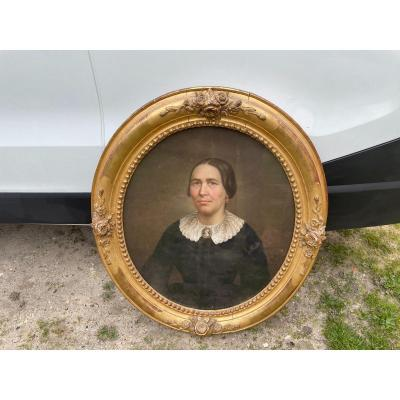 """Portrait Of A Woman """"pastel"""" XIX Century"""
