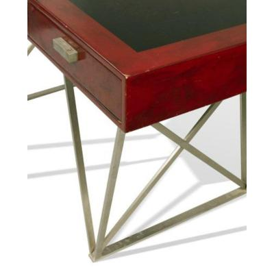 Maison Charles - Lacquered Desk Resting On A Steel Base - Circa 1960