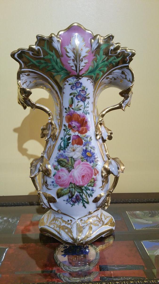 Vase d église en Vieux Paris