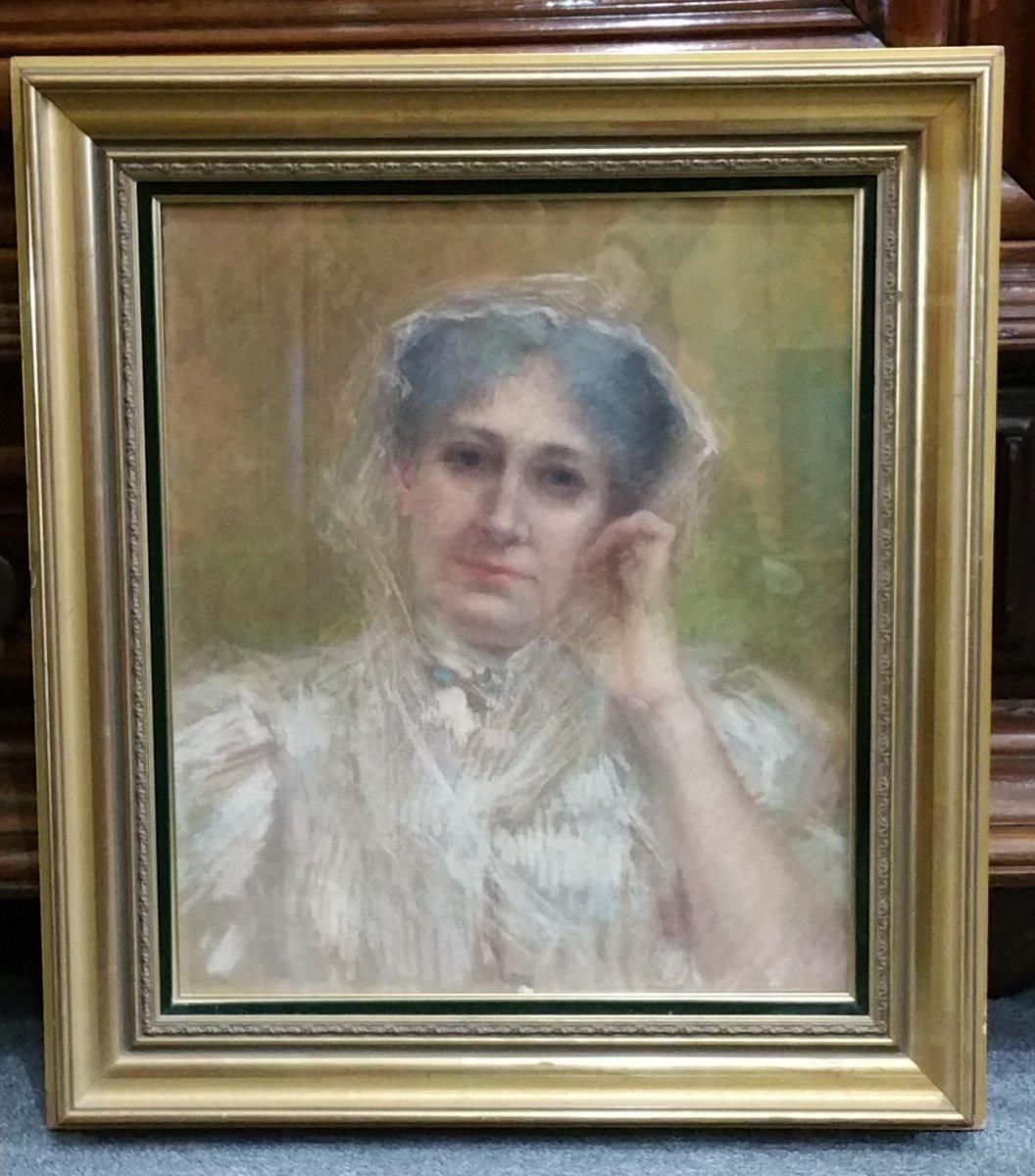Levy-Dhurmer  Lucien : Portrait de Femme.