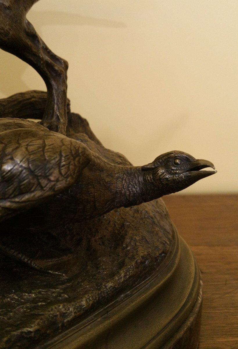 Moigniez Jules: Weimaraner Stopping A Susse Fondeur Pheasant-photo-3