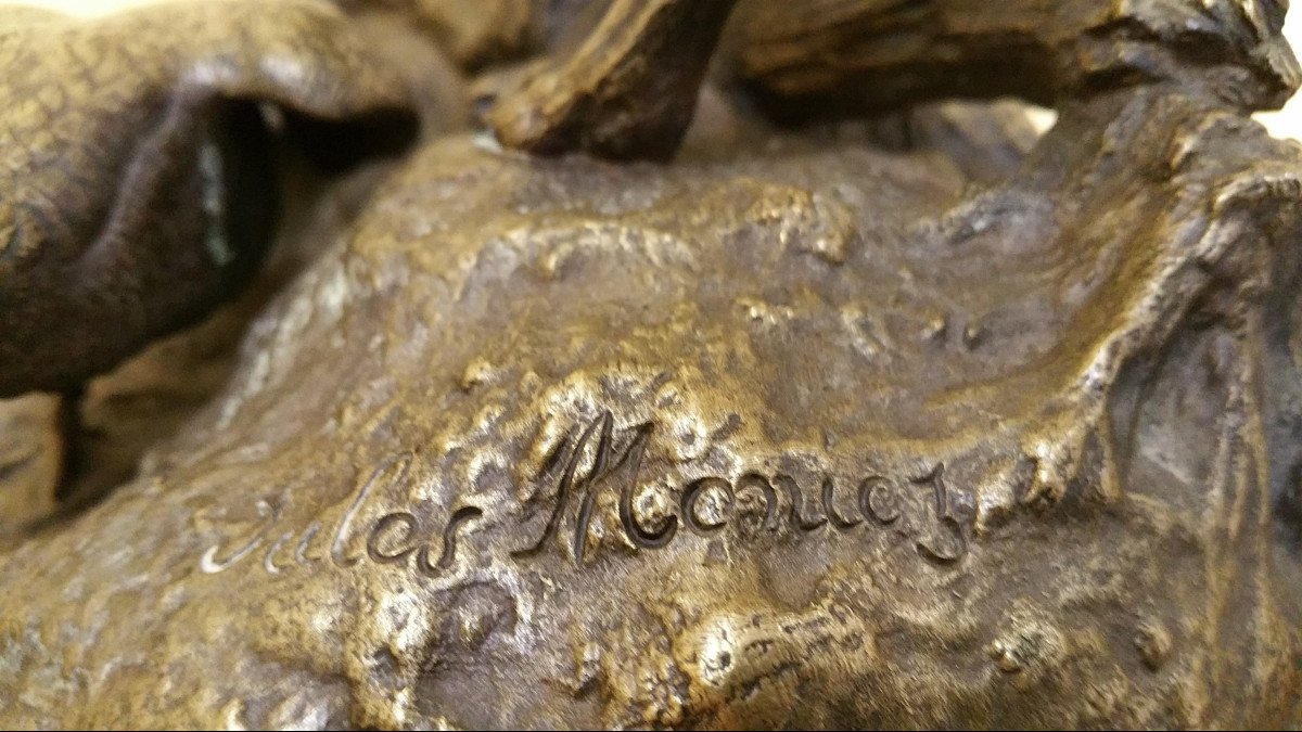 Moigniez Jules: Weimaraner Stopping A Susse Fondeur Pheasant-photo-2