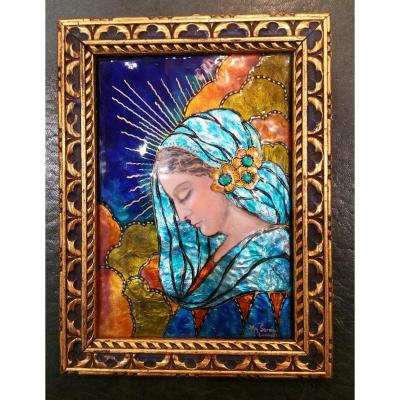 Sornin Marguerite: Email Of Limoges: Holy Virgin