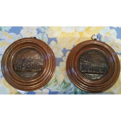 Guy Antoine Brenet : Paire De Médailles