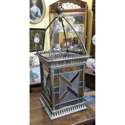 Lantern Decorated With Stained Glass