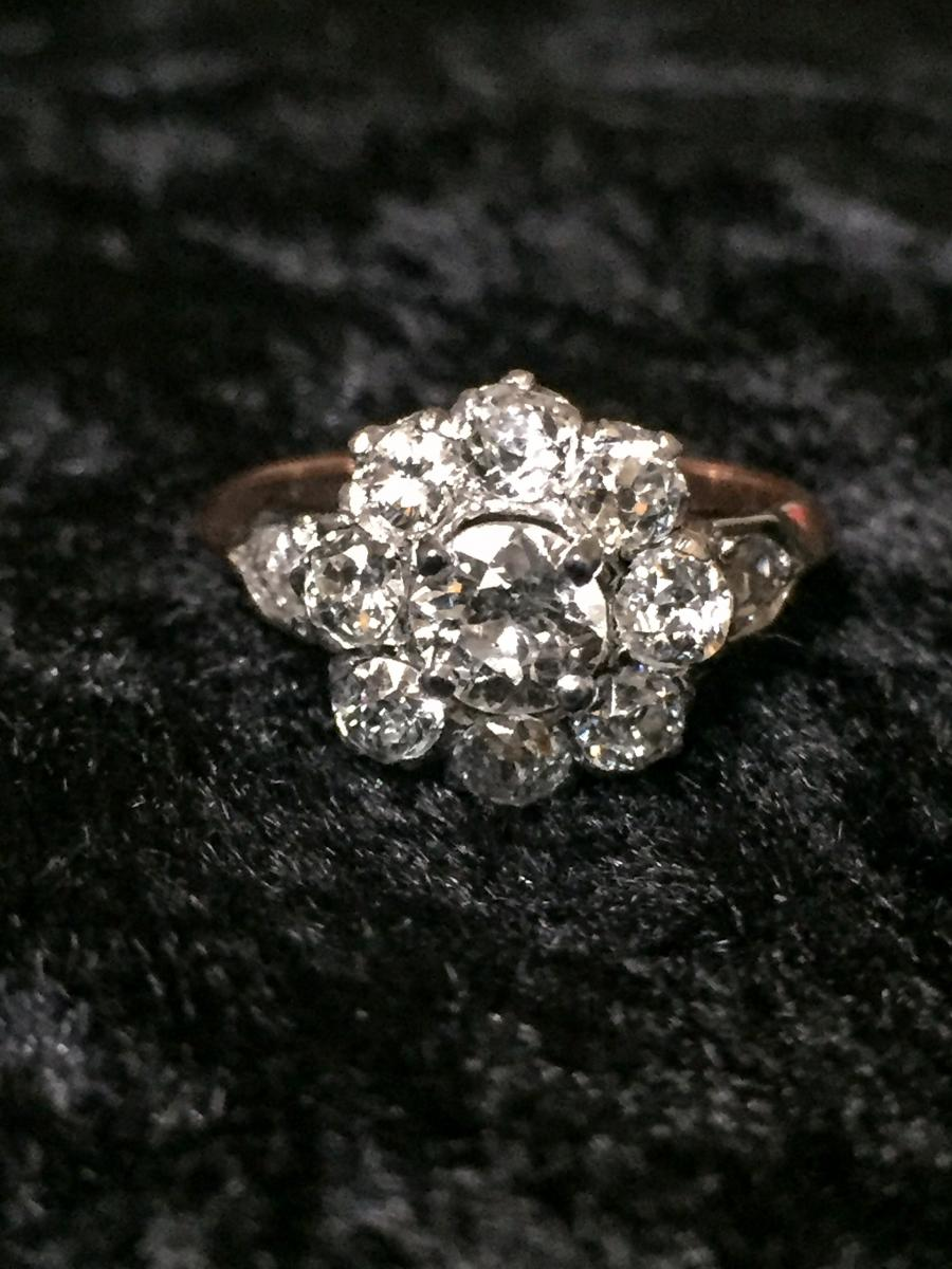 Bague Marguerite En Diamant Circa 1900