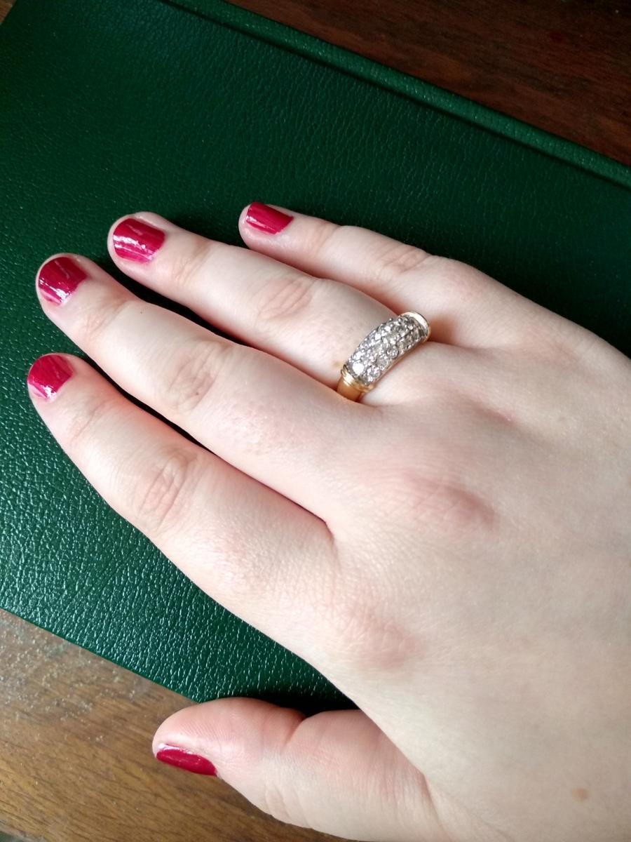 Bague En Or Pavée De 19 Diamants-photo-2