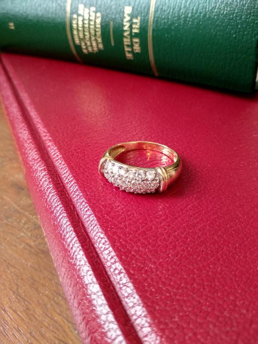 Bague En Or Pavée De 19 Diamants-photo-4