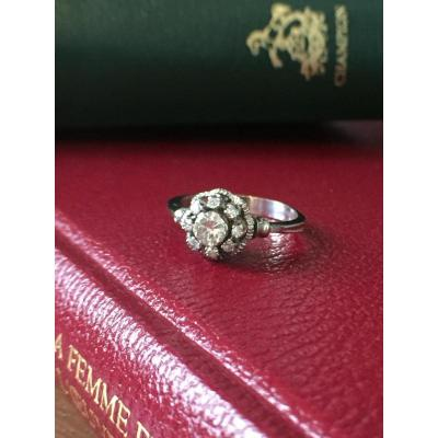 Bague Marguerite En Or Et Diamant