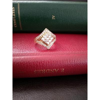 Bague En Or Sertie De 39 Diamants