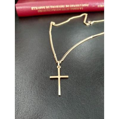 Croix En Or Et Sa Chaine