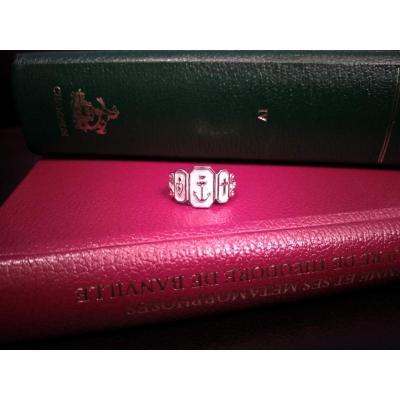 Bague En Argent Aux 3 Vertus: La Foi, l'Espérance, La Charité