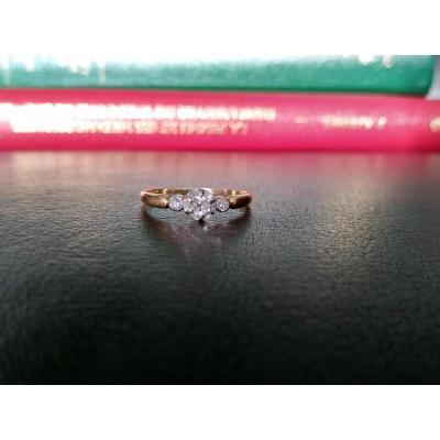 Bague En Or Et Diamants Taille Ancienne