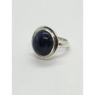 Bague Cabochon De Lapis Lazulis