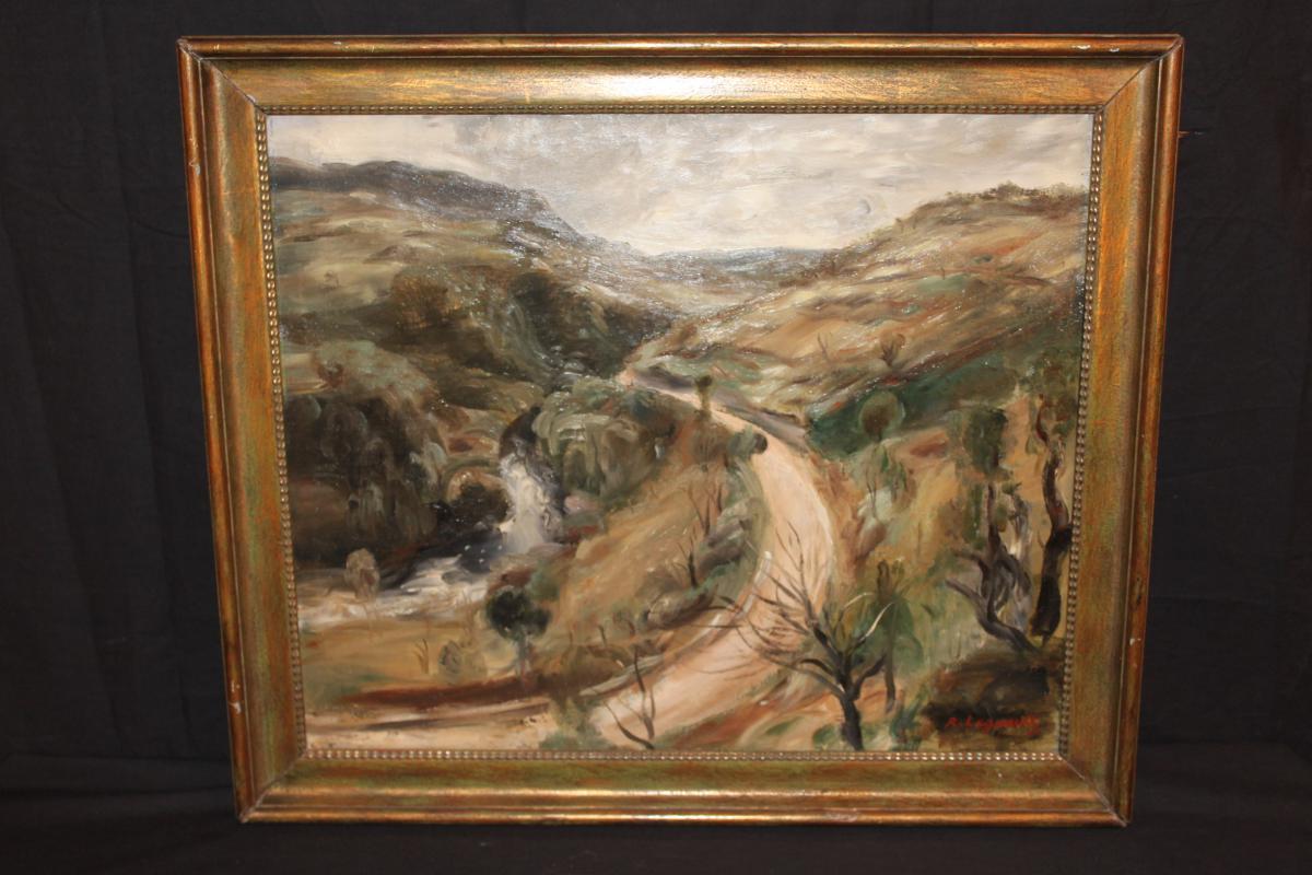 Raymond Legueult - Oil On Canvas - Landscape Du Jura 1926