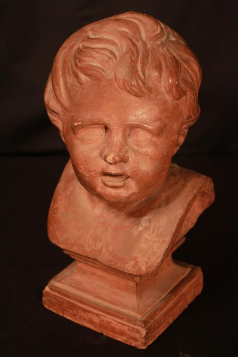 Bust Of Child In Terracotta