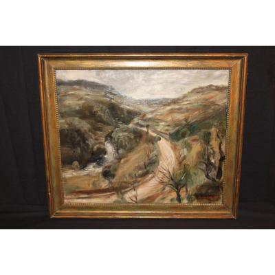 Raymond Legueult - Huile Sur Toile - Paysage Du Jura, 1926