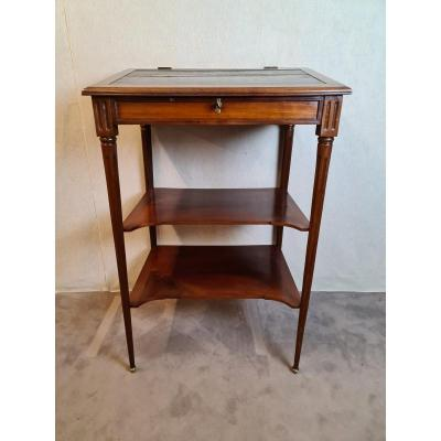 Rare Standing Writing Cabinet - Jean Caumont Stamp - 18th Century
