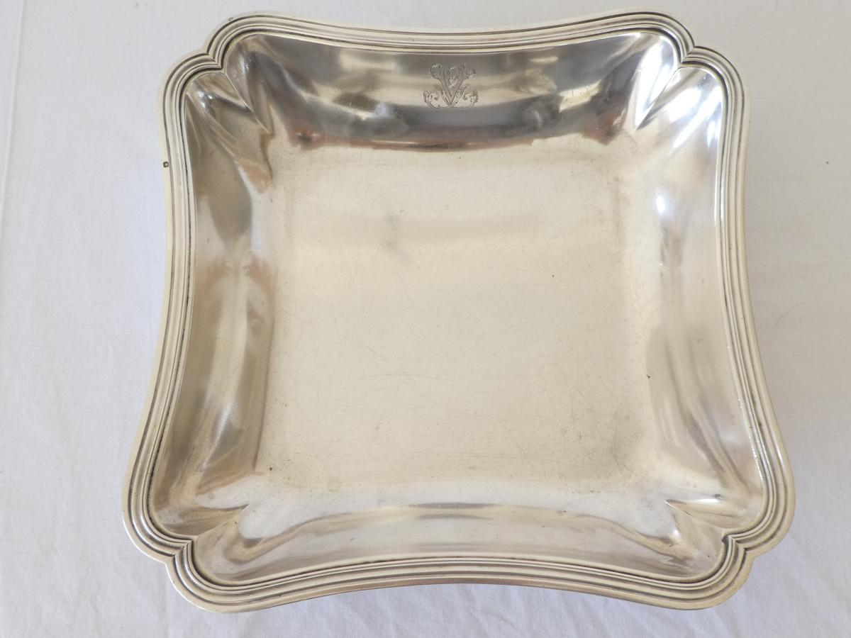 Square Hollow Dish In Sterling Silver-photo-3
