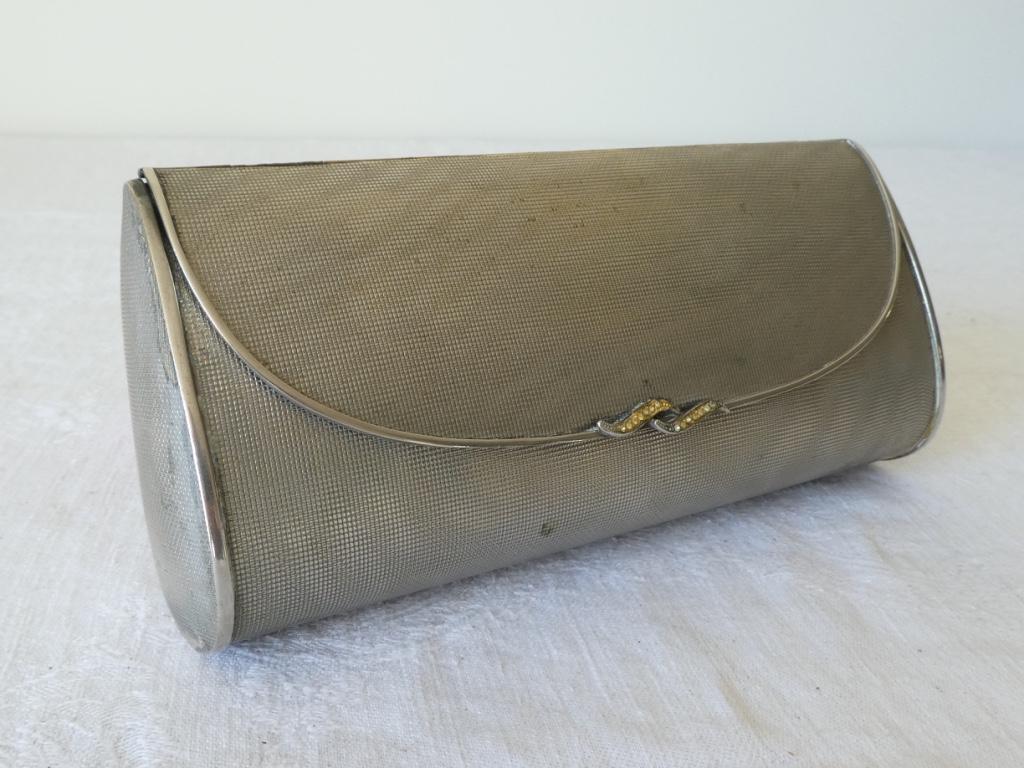 Vintage Silver Minaudiere