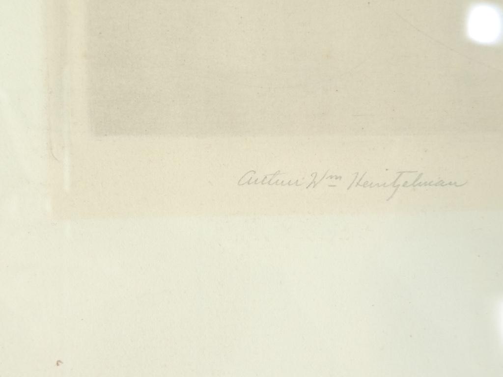 Gravure Originale Eau Forte 1932 - The Silent Christ '' De William Heintzelman-photo-2