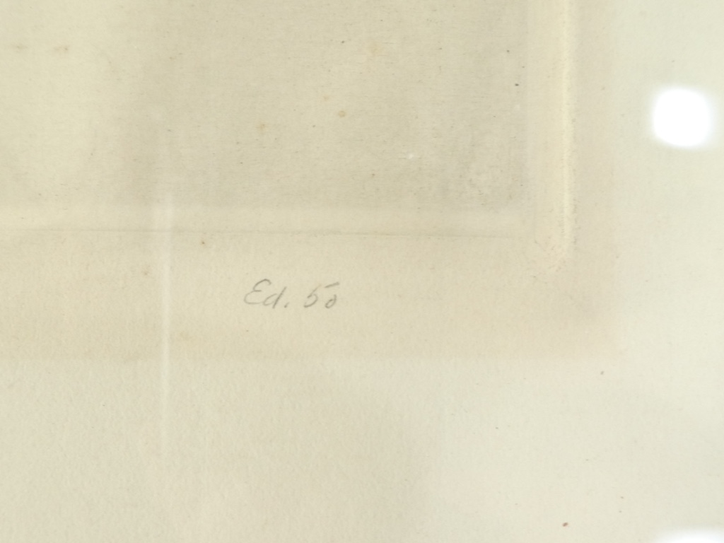 Gravure Originale Eau Forte 1932 - The Silent Christ '' De William Heintzelman-photo-3