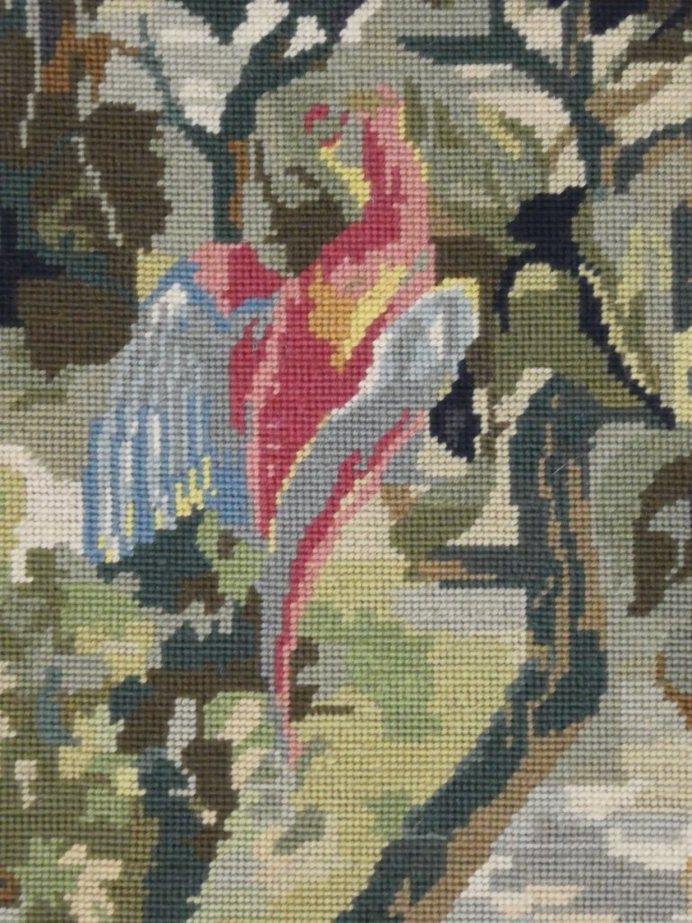 Aubusson Tapestry In Wool Greenery With Birds-photo-1