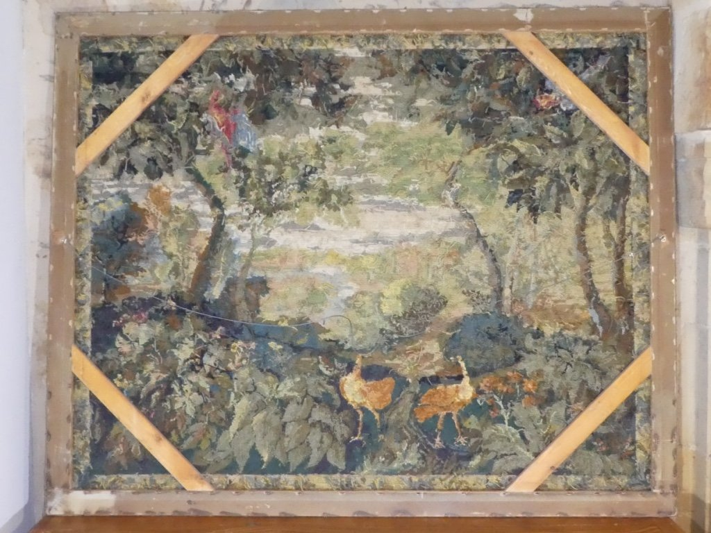 Aubusson Tapestry In Wool Greenery With Birds-photo-7