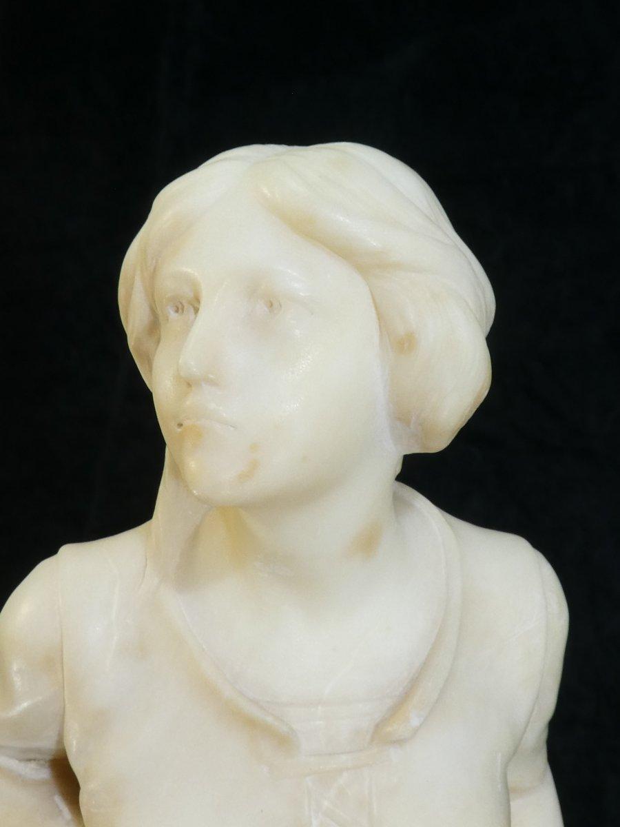 Statue En Albatre A. Del Perugia '' La Bergere '' 19eme-photo-3