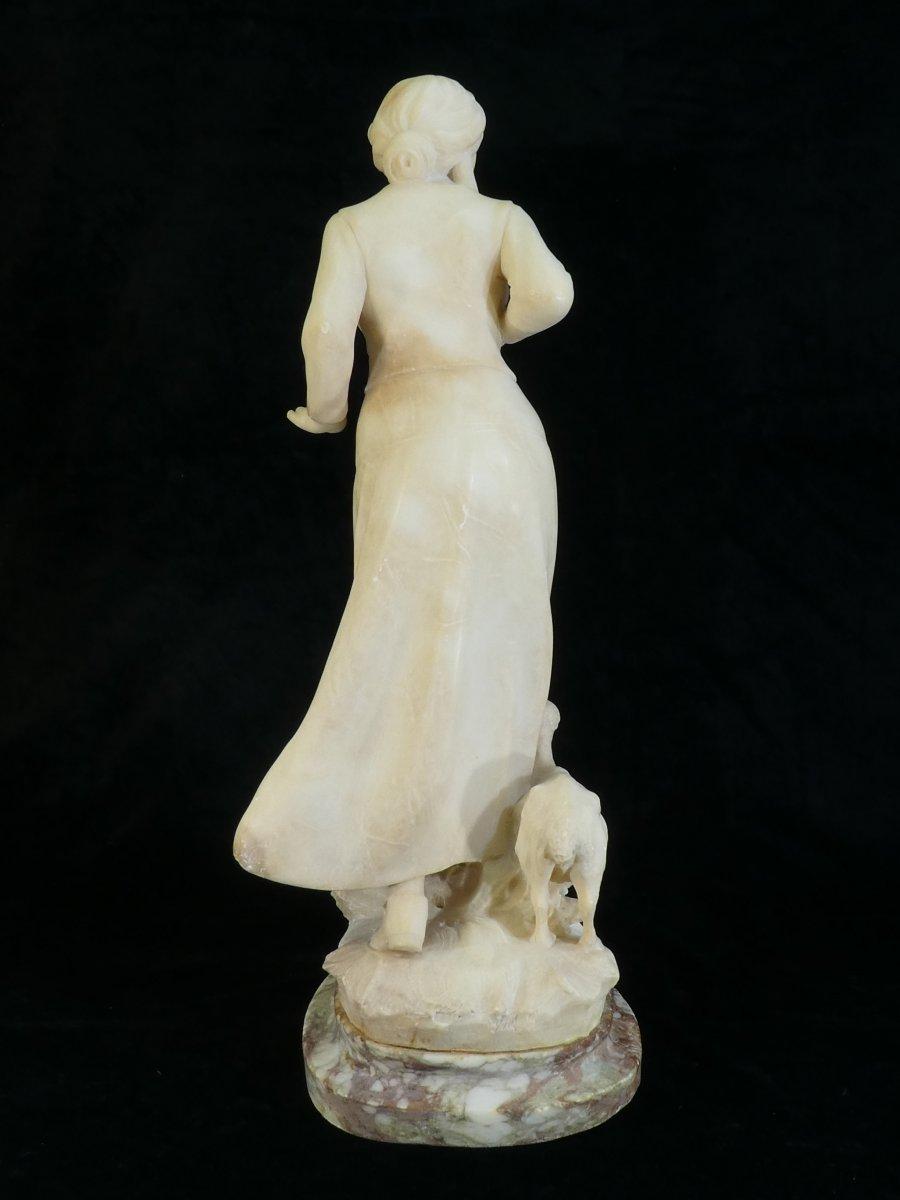 Statue En Albatre A. Del Perugia '' La Bergere '' 19eme-photo-2