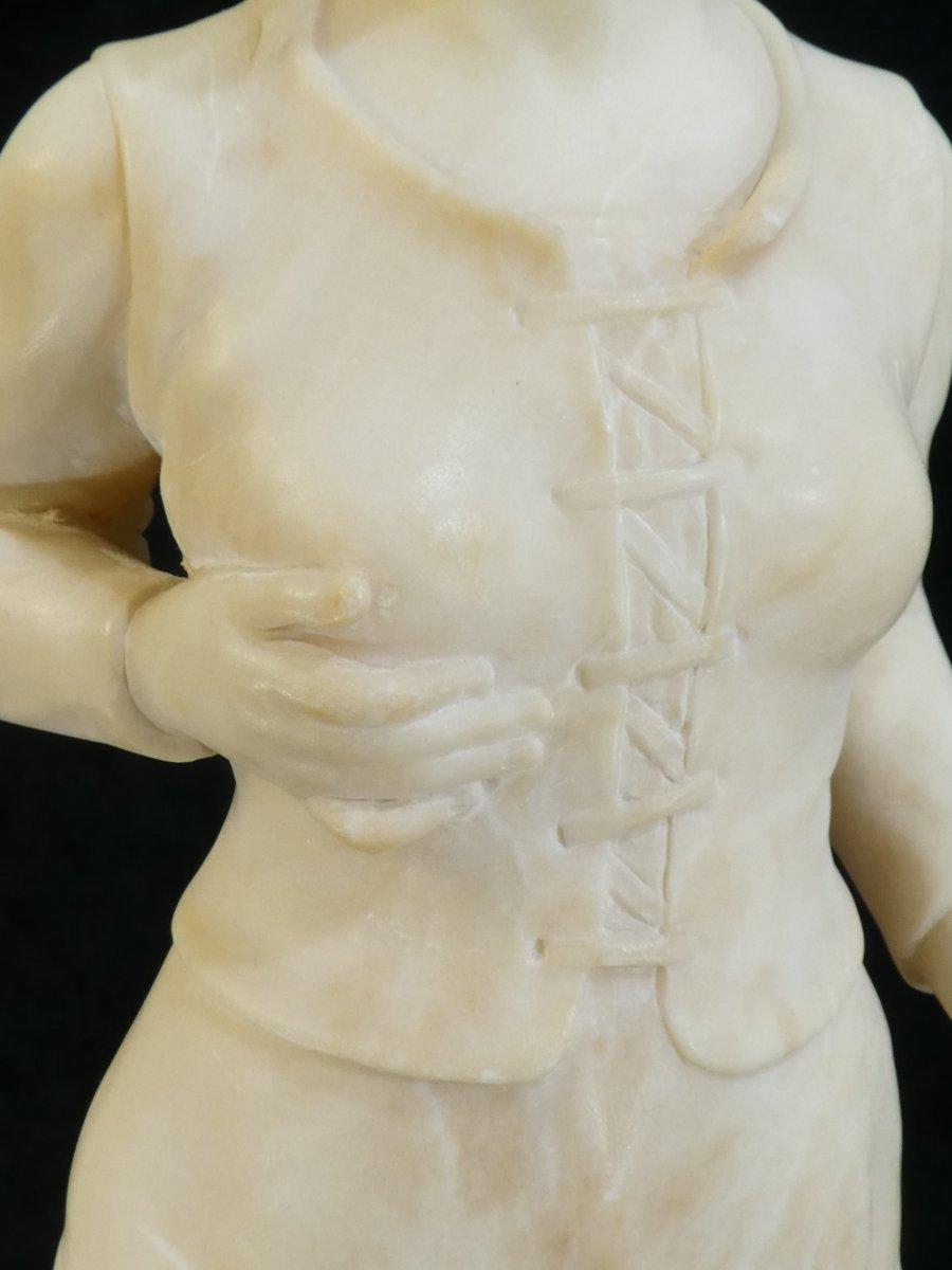 Statue En Albatre A. Del Perugia '' La Bergere '' 19eme-photo-5