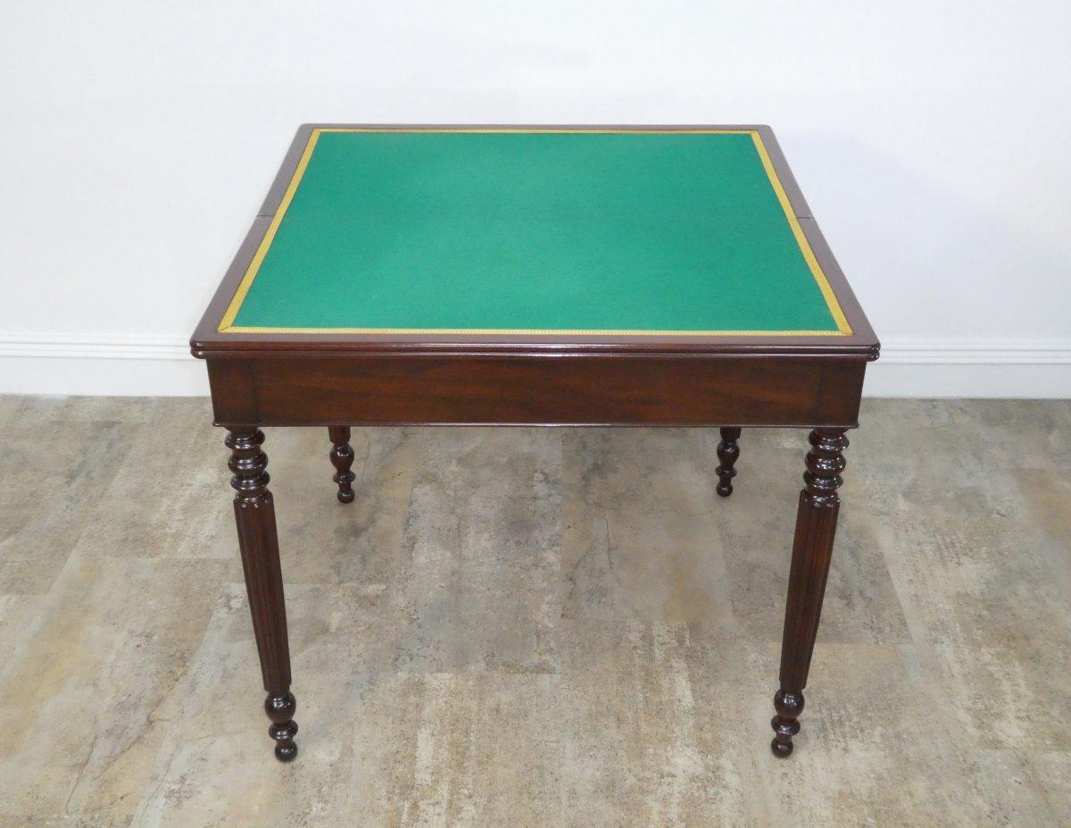 Table A Jeu Louis Philippe En Acajou 19eme-photo-2
