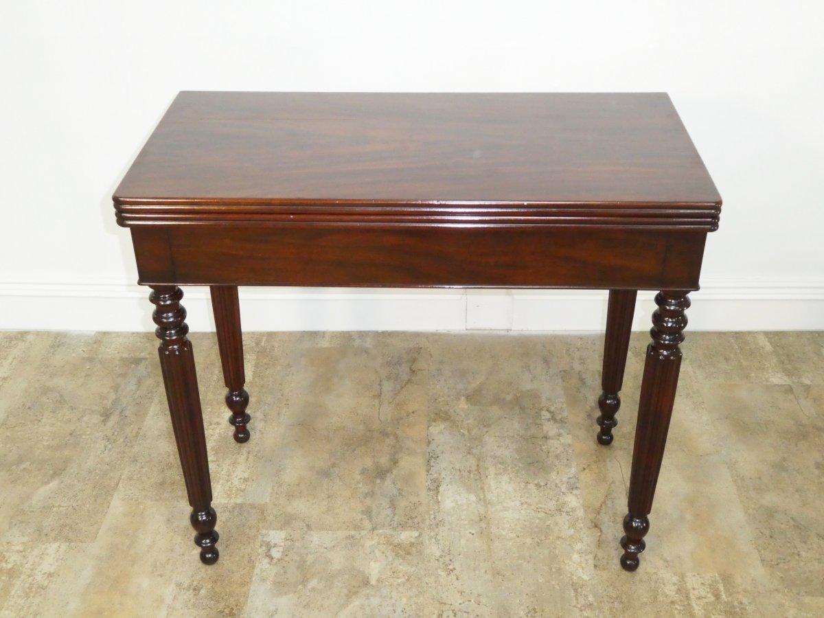 Table A Jeu Louis Philippe En Acajou 19eme-photo-3